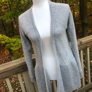 Grey open cardigan chunky sweater size small